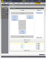 EC-CUBEのレイアウト設定画面